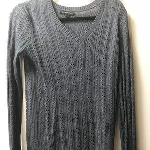 Banana Republic Gray V neck Sweater